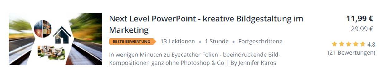 PowerPoint Bildgestaltung fuer Marketing